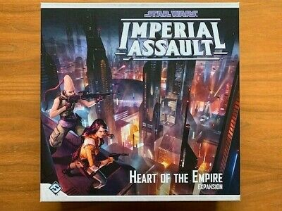 Imperial Assault - Heart of the Empire map tiles, box, manual/campaign book–Used