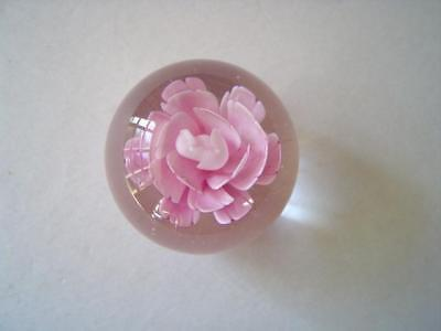 Paperweight Glass Rose -   Lavender