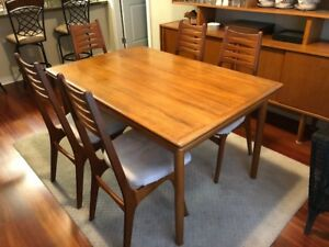 Beautiful Teak Dining Room Buffet and Dining table with 6 chairs