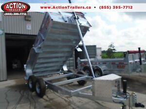 Hot dipped Galvanized dump trailer - 6 x 12 5 ton - NO MORE RUST