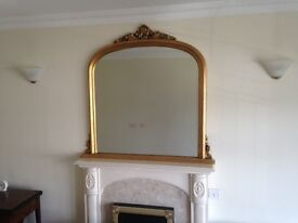 Gold bevelled mirror