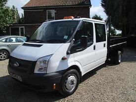 2013 Ford Transit 2.2TDCi 100PS 350 Double cab TIPPER 67,000 MILES 2013 REG 6SP
