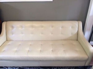 Beautiful leather sofa and chair - selling as set or separately