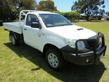 2012 Toyota Hilux KUN26R MY12 Workmate (4x4) White 5 Speed Manual Cab Chassis Pearsall Wanneroo Area Preview
