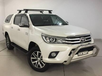 2015 Toyota Hilux GUN126R SR5 Double Cab White 6 Speed Sports Automatic Utility Chatswood Willoughby Area Preview