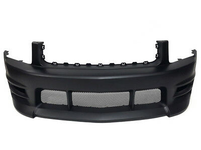 2009 Mustang Boy Racer -  05-09 Ford Mustang V6 Boy Racer Style Front Bumper w/ Lower Mesh Grilles
