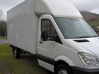 MAN AND A VAN, LARGE LUTON BOX VAN, YOUR LOCAL MAN AND AND A VAN HIRE SERVICE