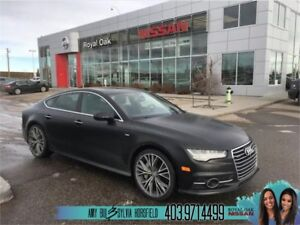 2016 Audi A7 3.0L TDI Technik ** Matte Black Full Paint Wrap **