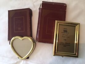 2 SOLID BRASS PHOTO FRAMES
