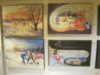 "THE HISTORY OF HOCKEY COLLECTION""This print was reproduced as a"