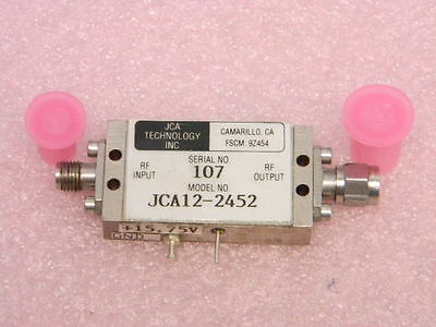 1-2ghz Sma Microwave Amplifier 18db Jca Technology Jca12-2452 Tested