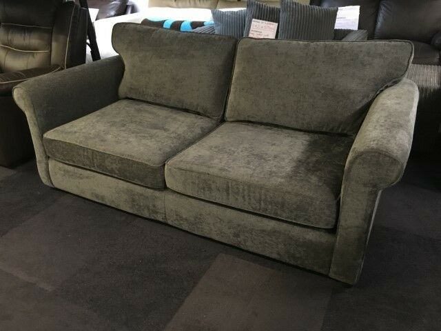 Debenhams Grey Chenille Fabric Pull Out Sofa Bed Memory Foam Mattress
