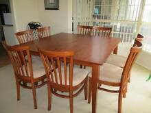 Square dining table 9 piece Minmi Newcastle Area Preview