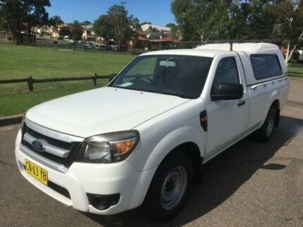 2010 Ford Ranger PK XL (4x2) White 5 Speed Manual Cab Chassis Lidcombe Auburn Area Preview