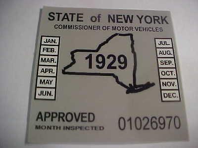 new york 1929 inspection sticker windshild model a