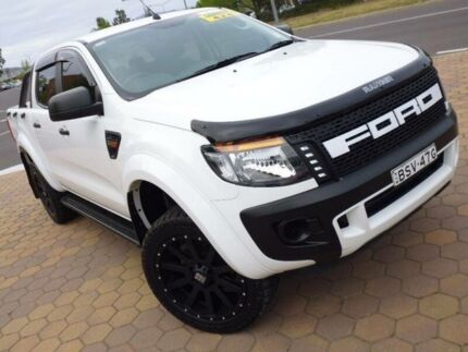 2013 Ford Ranger PX XL 3.2 (4x4) White 6 Speed Automatic Dual Cab Utility Greenway Tuggeranong Preview