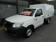2013 Toyota Hilux TGN16R MY14 Workmate White 5 Speed Manual Cab Chassis West Hindmarsh Charles Sturt Area Preview