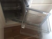New Pull out 4 tier metal corner cupboard shelves - in box!