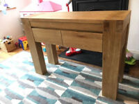 solid timber sideboard / drawer unit