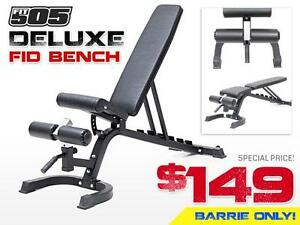 FLAT / INCLINE / DECLINE FID BENCH - Multi Adjustable Workout Bench - Brand NEW