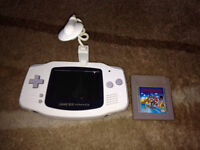 Gameboy Advance white with light & Mario land