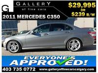2011 Mercedes C350 4Matic $239 bi-weekly APPLY NOW DRIVE NOW