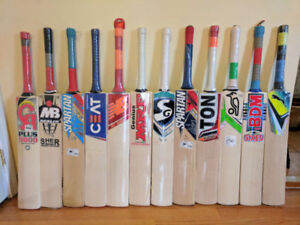 Cricket bats @ $ 99 + & Kits/gear/equipment @ $ 150 +