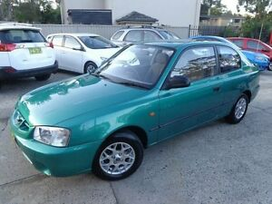 2002 Hyundai Accent LC GL Green 4 Speed Automatic Hatchback Sylvania Sutherland Area Preview