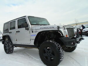 LIFTED-2008 JEEP WRANGLER RUBICON UNLIMITED-4X4-NAVI-DVD-6 SPEED