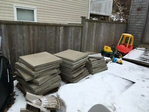 24x24 patio stones and 15 cinder blocks - SOLD PPU