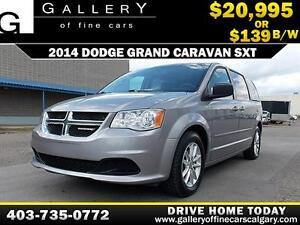 2014 Dodge Grand Caravan SXT $139 BI-WEEKLY APPLY NOW DRIVE NOW