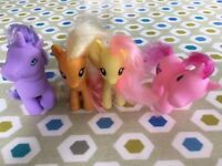 2 x My Little Ponies and two extra ponies