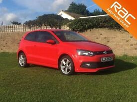 VOLKSWAGEN POLO 1.2 R-LINE STYLE AC 3d 60 BHP low mileage example/ (red) 2013