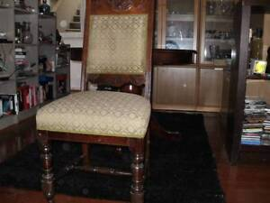Fully restored  Edwardian  dining chair with carved back x4 Caulfield North Glen Eira Area Preview
