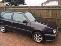 Classic Black VW Golf - Well Maintained - Full service - MOT and parts