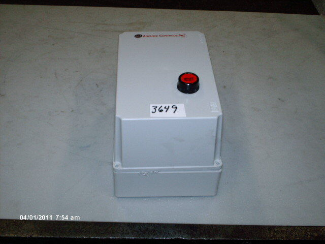 Advance Control Panel Box 131595 C-16 Contactor 24V NEW
