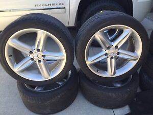 Mercedes E320 Winter tires and rims/offset tires and rims Kitchener / Waterloo Kitchener Area image 2