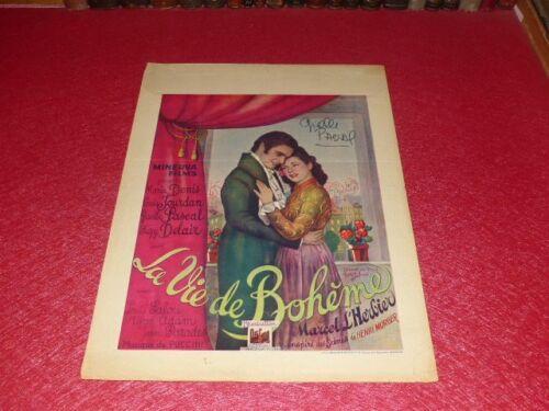 Cinema Poster Original Belgian Signed! The Life Bohemian Marcel L