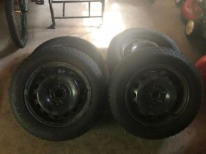 4 winter tires on rims. 205 65 r16. off 2015 Jetta.