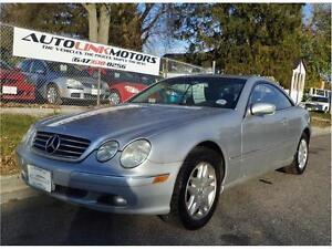 2002 MERCEDES BENZ CL500 COUPE*AUTO*NAV*SUNROOF&MORE