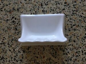 6 tile in white soap dishes