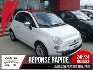 2015 FIAT 500c Lounge, CONVERTIBLE, CUIR, MAG, FOG