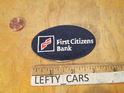 First Citizens Bank Oval Shape Embroidered Rare Patch   Sew On Type