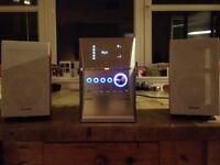 Panasonic SA PM41 stereo 5 CD changer, cassette deck, radio & aux input