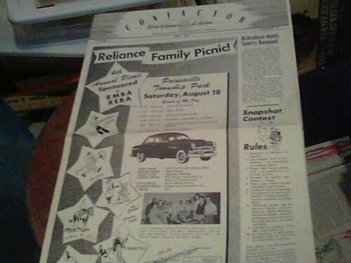 July 1951 Contactor Reliance Electric newsletter Ashtabula Family Picnic, Sports