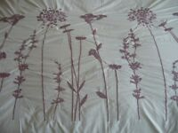 Next double lilac & mauve embroidered duvet cover & 4 pillowcases - southbourne