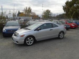 2008 Honda Civic LX-EXTRA CLEAN-NO ACCIDENTS-SPORTY COUPE!
