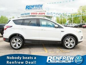 2017 Ford Escape 4WD Titanium, Pano Sunroof, Nav, Heated Leather