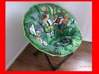 BRAND NEW garden camping home child Children's folding chair seat stool green