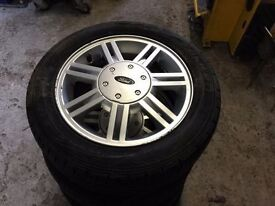 SET OF FORD FIESTA/KA WHEELS AND TYRES 14 INCH